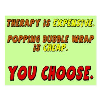 Regalos divertidos de las camisetas de la terapia postales