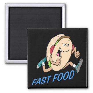 Regalos divertidos de las camisetas de los aliment imán cuadrado