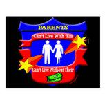 Regalos divertidos de las camisetas de los padres tarjetas postales