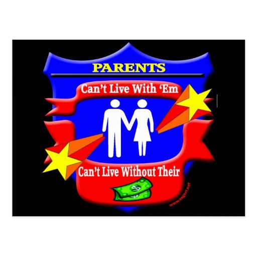 Regalos divertidos de las camisetas de los padres tarjeta postal