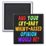 Regalos divertidos de las camisetas del bebé del g imán de frigorífico