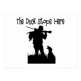 Regalos divertidos de los cazadores del pato postal