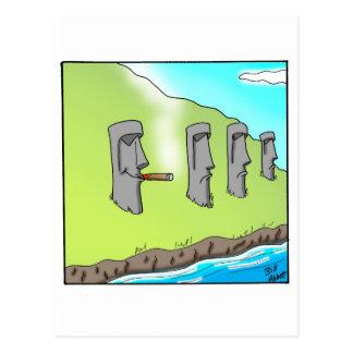 Regalos divertidos del dibujo animado del cigarro tarjetas postales