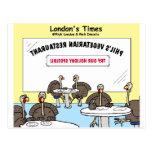 Regalos divertidos del dibujo animado raro vegetar tarjetas postales