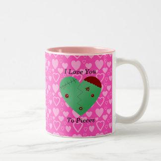 Regalos divertidos del el día de San Valentín del Taza De Dos Tonos
