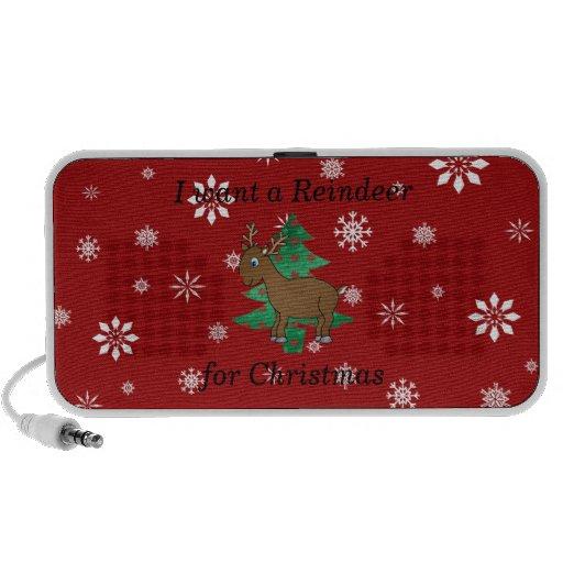 Regalos divertidos del navidad del reno iPod altavoz