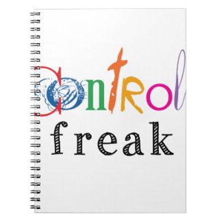Regalos divertidos del obseso del control libro de apuntes