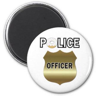 Regalos divertidos del oficial de policía imán redondo 5 cm