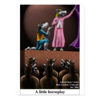Regalos divertidos del pequeño juego del caballo postales