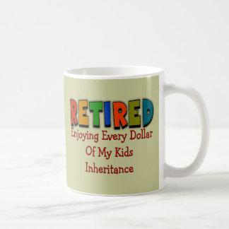 Regalos divertidos del retiro taza de café