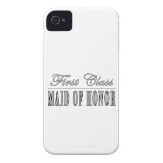 Regalos divertidos elegantes: Criada de primera cl iPhone 4 Case-Mate Cobertura