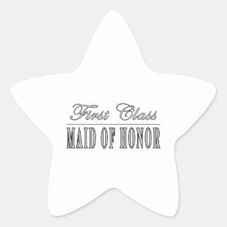 Regalos divertidos elegantes: Criada de primera Pegatina En Forma De Estrella