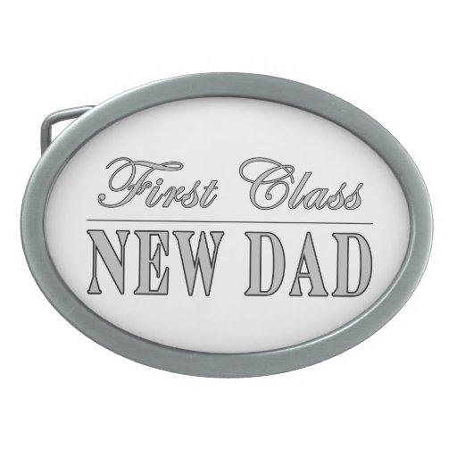 Regalos divertidos elegantes: Nuevo papá de la pri Hebilla Cinturón Oval
