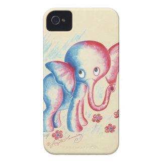 regalos divertidos lindos de los elefantes del iPhone 4 Case-Mate fundas