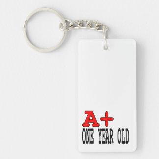 Regalos divertidos para 1 año A+ Un año Llaveros