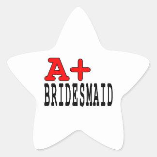 Regalos divertidos para las damas de honor: A+ Pegatina En Forma De Estrella