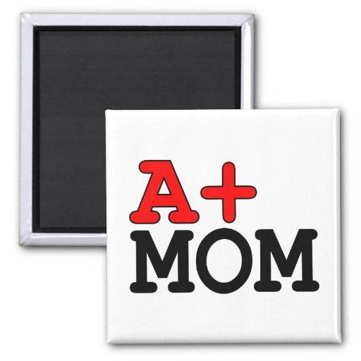Regalos divertidos para las mamáes: A+ Mamá Imán Cuadrado
