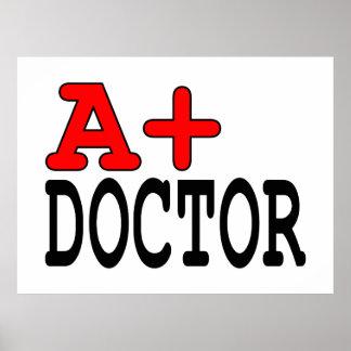 Regalos divertidos para los doctores: A+ Doctor Poster