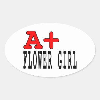 Regalos divertidos para los floristas: A+ Florista Calcomanías De Ovales