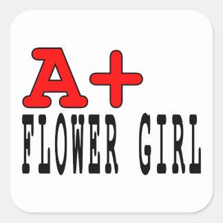 Regalos divertidos para los floristas: A+ Florista Calcomanías Cuadradass Personalizadas