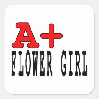 Regalos divertidos para los floristas: A+ Florista Colcomanias Cuadradas Personalizadas