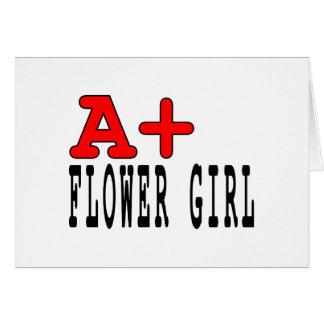 Regalos divertidos para los floristas: A+ Florista Tarjeton