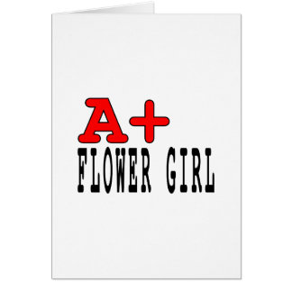 Regalos divertidos para los floristas: A+ Florista Tarjeta