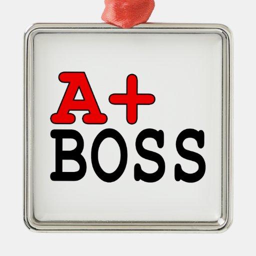 Regalos divertidos para los jefes: A+ Boss Ornato