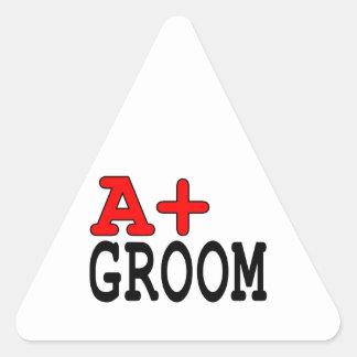 Regalos divertidos para los novios: A+ Novio Pegatinas Triangulo Personalizadas