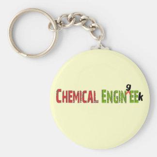 Regalos divertidos químicos del ingeniero (EnginGE Llavero Redondo Tipo Pin