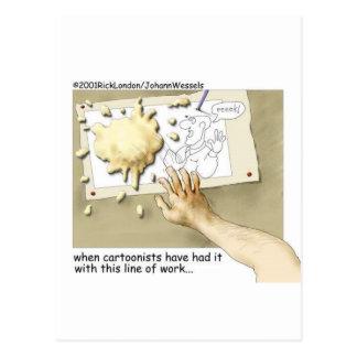 Regalos divertidos y coleccionables del dibujante  tarjeta postal