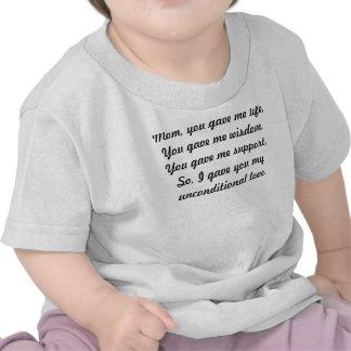 Regalos dulces del día de madre barato camiseta