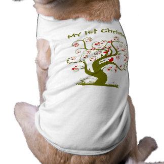 Regalos e invitaciones lindos del árbol del playera sin mangas para perro