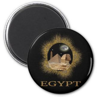 Regalos egipcios de la esfinge imán redondo 5 cm