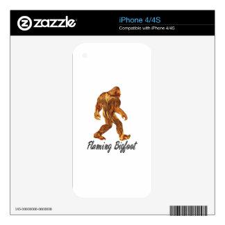Regalos el flamear Bigfoot Calcomanías Para El iPhone 4