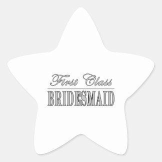 Regalos elegantes de las damas de honor de la pegatina en forma de estrella