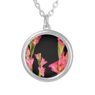 Regalos elegantes florales del ramo rosado exótico colgante redondo