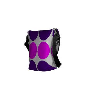 Regalos elegantes para ella Lunares púrpuras y ro Bolsas Messenger