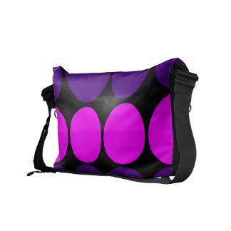 Regalos elegantes para ella Lunares púrpuras y ro Bolsas De Mensajeria