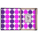 Regalos elegantes para ella: Lunares púrpuras y ro iPad Cárcasa
