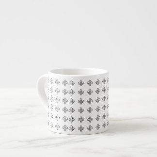 Regalos elegantes para los chicas Flor de lis bla Tazas Espresso