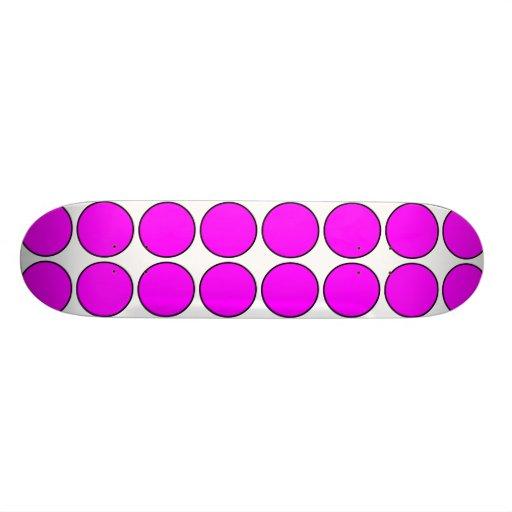 """Regalos elegantes para los chicas: Lunares rosados Patineta 7 3/8"""""""