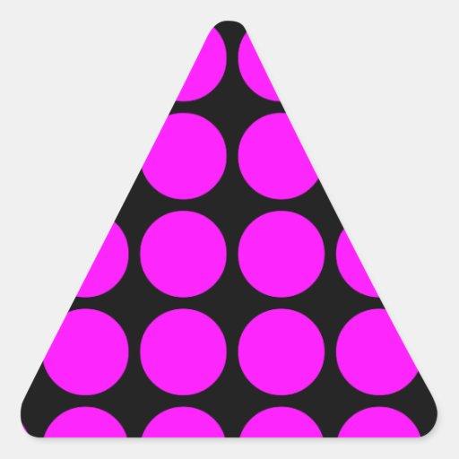 Regalos elegantes para los chicas: Lunares rosados Pegatina Triangular