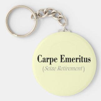 Regalos eméritos de Carpe (agarre el retiro) Llavero Personalizado