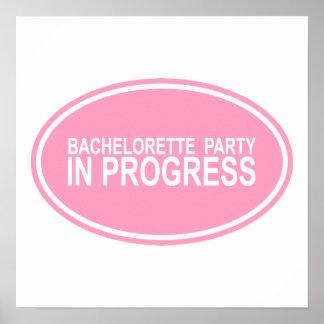 Regalos en curso de las camisetas del fiesta rosad póster
