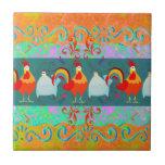 Regalos enrrollados del animal del campo de pollo  tejas  cerámicas