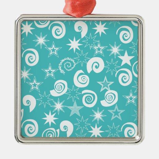 Regalos enrrollados del modelo de la diversión de adorno navideño cuadrado de metal