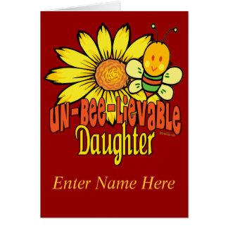 Regalos enrrollados para las hijas tarjeta de felicitación