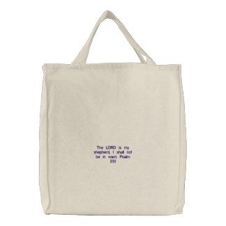 Regalos enteros de la venta de la fe cristiana aqu bolsa de tela bordada