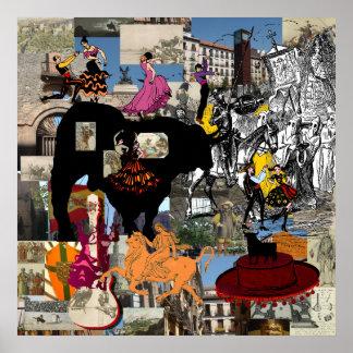 Regalos españoles de la cultura del collage de Esp Impresiones